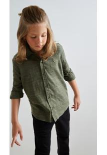 Camisa Mini Pf Hame Inv19 Reserva Mini Verde - Kanui
