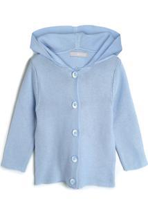 Casaco Hering Kids Infantil Liso Azul - Tricae