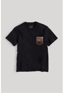 Camiseta Infantil Bolso Xadrez Quadrilha Reserva Mini Masculina - Masculino