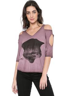Camiseta Osmoze Destroyed Roxa