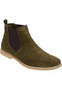 c33b3ef218 Bota Chelsea Camurça Escrete Boots Fechamento Em Elástico - Masculino-Verde