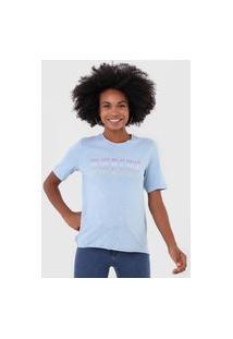 Camiseta Only Hello Azul