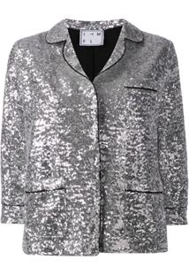 In The Mood For Love Sofia Sequin Jacket - Prateado