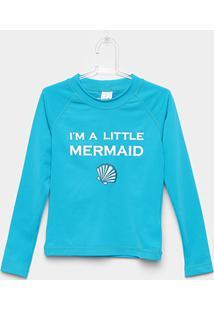 Camiseta Infantil Tip Top Cereja Praia Feminina - Feminino-Verde