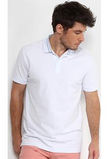 19f1b5e467 Camisa Polo Forum Piquet Masculina - Masculino-Branco
