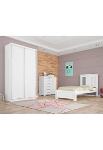 Dormitorio De Solteiro Virtual Juvenil Branco 120 Cm