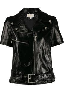 Michael Michael Kors Short Sleeve Moto Jacket - Preto