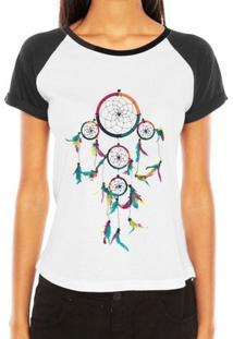 Camiseta Raglan Criativa Urbana Filtro Dos Sonhos Colorido Sonhar - Feminino