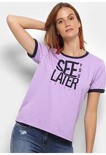 Camiseta Colcci Estampada See You Later Feminina - Feminino