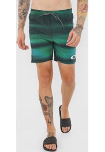 Bermuda ÁGua Oakley Reta Blad Spectru Verde - Verde - Masculino - Dafiti