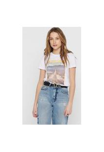 Camiseta Only Estampa Branca