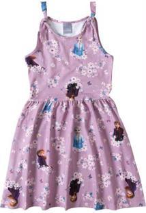 Vestido Lilás Frozen® Cotton