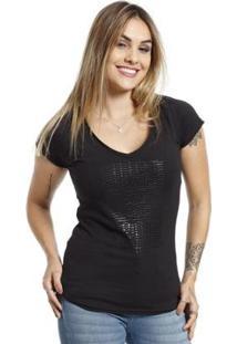 Camiseta Vlcs Gola V Feminina - Feminino