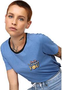 Camiseta Volcom Stoked On Stone Azul