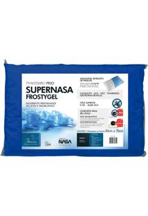 Travesseiro Fibrasca Supernasa Frosty Gel Azul