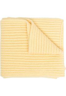 Pringle Of Scotland Cachecol De Tricô E Cashmere - Amarelo