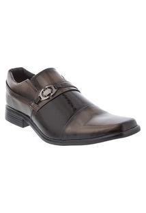 Sapato Social Valença Verniz Marrom