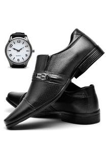 Sapato Social Masculino Db Now Com Relógio New Dubuy 710Od Preto
