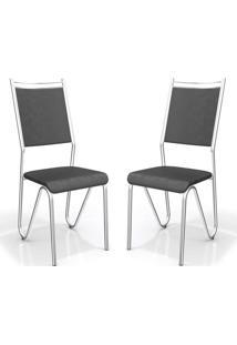 Kit Com 2 Cadeiras Londres Preto Kappesberg