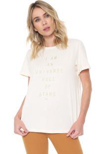 Camiseta Forum Universe Bege