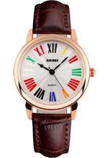 Relógio Skmei Analógico 1084 Marrom