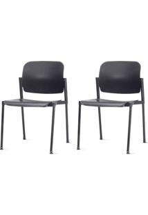 Kit 2 Cadeiras Leaf Preta - 57399 - Sun House