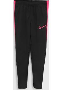 Calça Nike Infantil Logo Preto/Rosa