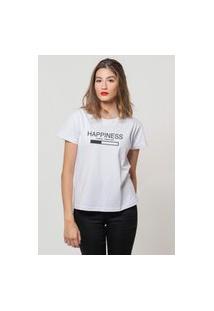 Camiseta Jay Jay Basica Happiness Loading Branca Dtg