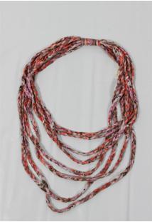 Colar Lenço – Pashmina- 100% Poliester- Vermelho