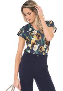 Camiseta Lança Perfume Floral Azul