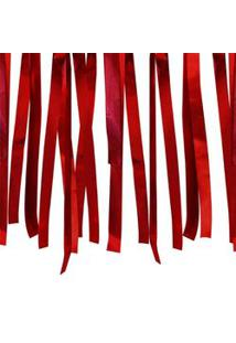 Varal De Fitas Metalizadas Vermelho 10 Metros