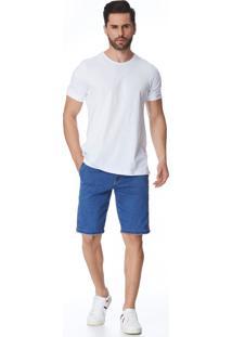 Bermuda Jeans Zait Tradicional Dudu Azul Marinho