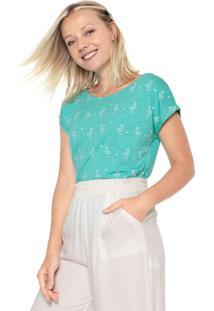 Camiseta Mercatto Estampada Verde