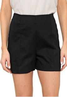 Short Mercatto Liso Preto