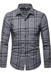 Camisa Xadrez Culloden - Cinza P
