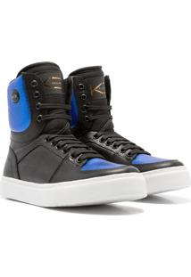 Sneaker K3 Fitness Colorful Preto/Azul