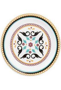 Conjunto De Pratos De Sobremesa 06 Peças Em Cerâmica Floreal Luiza - Oxford Daily