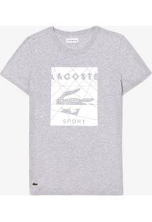 Camiseta Lacoste Sport Cinza