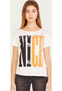 "Camiseta ""Nice"" - Off White & Pretashoulder"