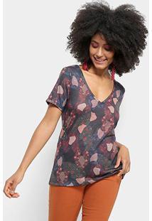 Camiseta Cantão Local Camuface Feminina - Feminino