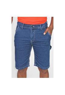 Bermuda Jeans Element Reta Carpinter Azul
