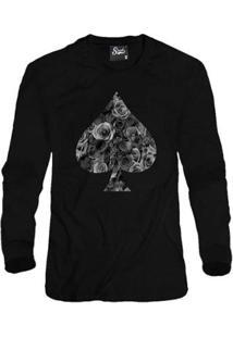 Casaco Moletom Skull Clothing Poker Masculino - Masculino-Preto