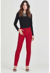 Calça Pescador Rubinella Bolso Feminina - Feminino-Vermelho
