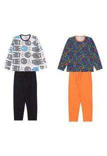 Kit 2 Pijamas Inverno Masculino