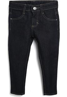 Calça Jeans Malwee Kids Infantil Lisa Azul-Marinho