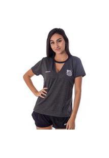 Camiseta Santos Pilus Feminina