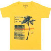 27e1b1b77813c Camiseta Calvin Klein Kids Manga Curta Menino Amarela