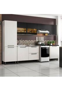 Cozinha Compacta Black&White 8 Pt 2 Gv Branca E Preta