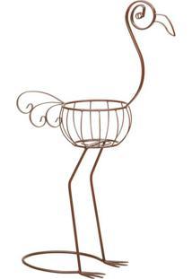 Flamingo Decorativo Novel Marrom