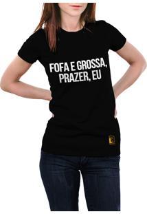 Camiseta Hunter Fofa E Grossa Preta